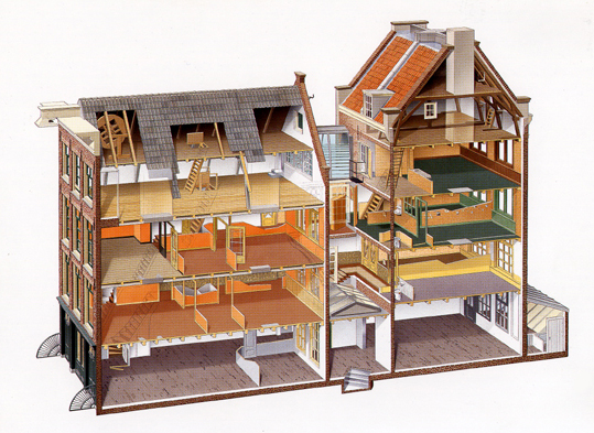 Anne Frank What If on Office Building Cross Section