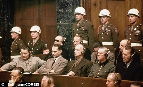 Pictured in the front row are: Hermann Goering, Rudolf Hess, Joachim Von Ribbentrop, Wilhelm Keitel and Ernst Kaltenbrunner