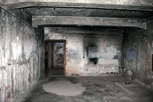 Manhole and floor drain inside the krema i gas chamber at