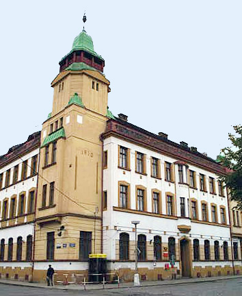 The home for babies at Theresienstadt was in this building, which is now a post office