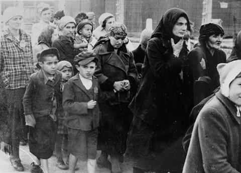 walking to the gas chambers at Auschwitz-Birkenau ...
