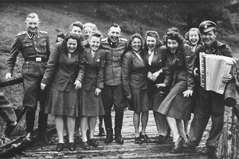 Auschwitz SS men and women relaxing on their day off