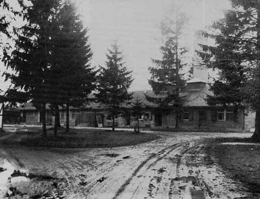 Baracke X as it looked in 1945 after Dachau was liberated