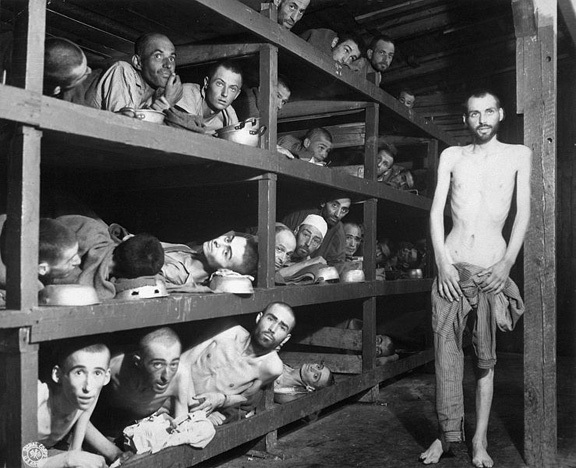 Prisoners in Buchenwald concentration camp