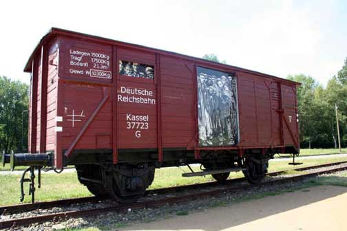 Boxcar at Neuengamme Memorial Site Photo Credit: Bonnie M. Harris