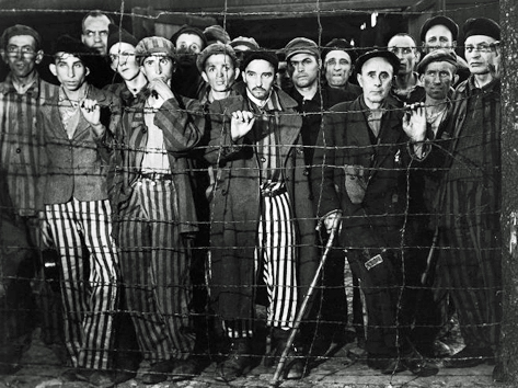Famous Buchenwald photo taken by Margaret Bourke-White