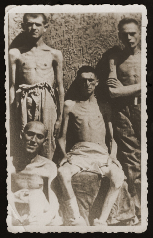 Four Jewish survivors of Buchenwald