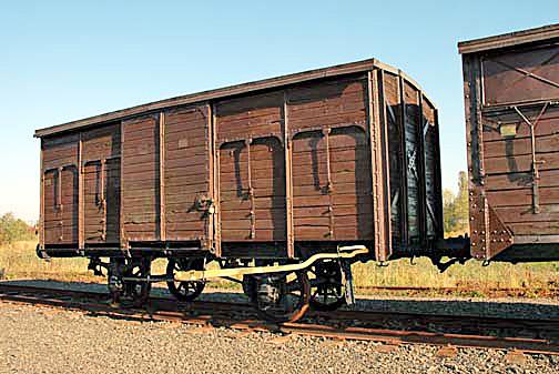 Boxcar at Judenrampe near Auschwitz-Birkenau