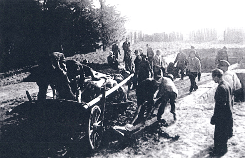 Civilians in town of Dachau were forced to bury the bodies from the camp