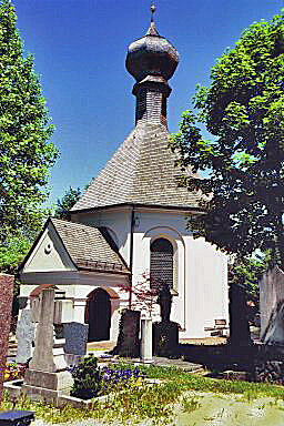 Chapel in the old cemetery where Georg Scherer is buried