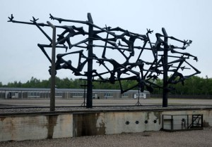 My 2007 photo of the International Monument at Dachau
