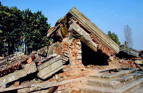 Ruins of Krema III gas chamber building