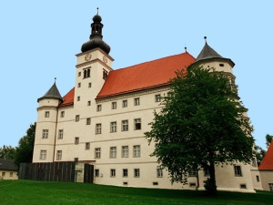 Schloss Hartheim in the town of Alkoven, Austria where disabled persons were euthanized by the Nazis