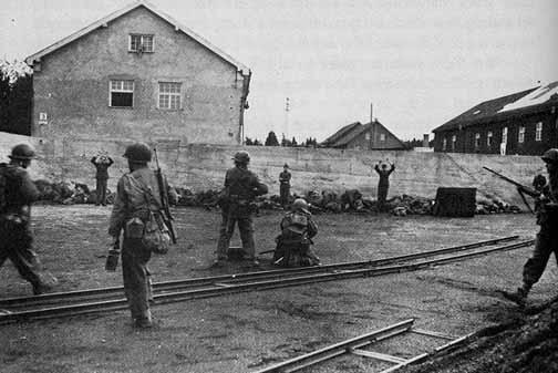 "Famous photo of the ""Dachau Massacre"""