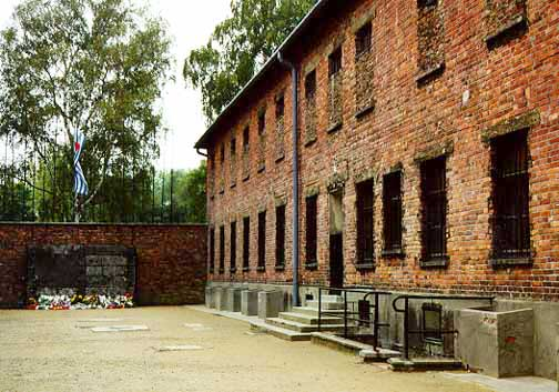 Block 11 at Auschwitz where the first gassing allegedly took place