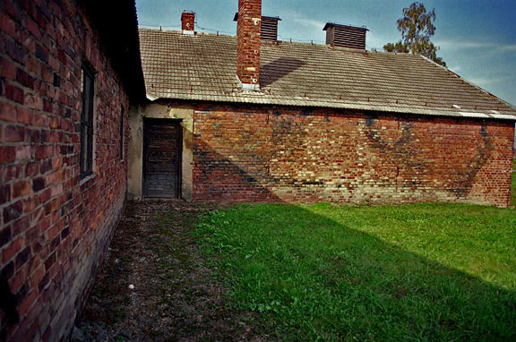 Building at Auschwitz-Birkeanau where a Gaskammer was located