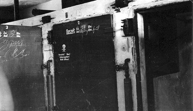 Door into a gas chamber at Dachau