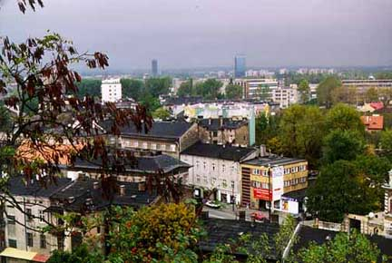 View of the ghetto from the hill where Oskar Schindler saw the girl in the red coat