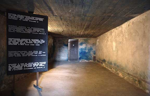 View of the main gas chamber from the doorway