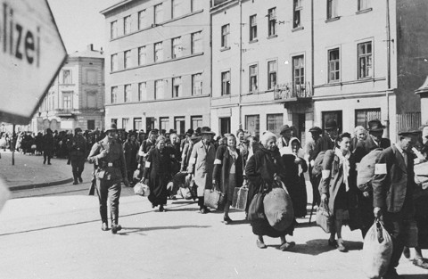 Jews are being forced to move into the Podgorze ghetto