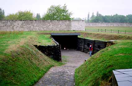 The place where Soviet POWs were shot at Sachsenhausen