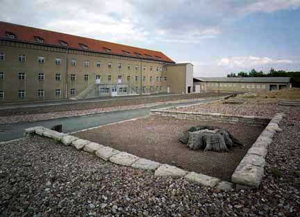 The large building on the left was the Storehouse at Buchenwald