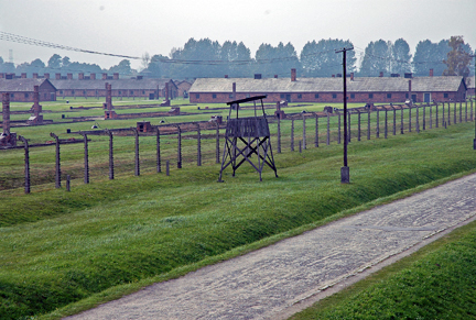 Women's camp at Auschwitz-Birkenau
