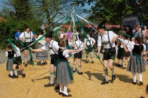 Dancing around the Maypole in Buchenberg, Germany