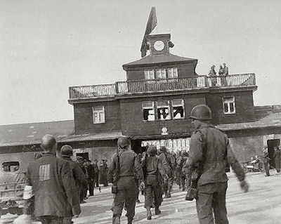 American soldiers were brought to Buchenwald to see the display table