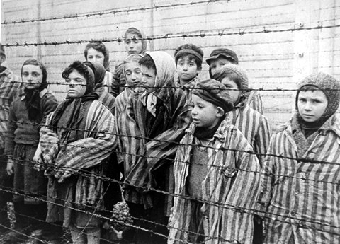 Still shot from a film made by the Soviet liberators of Auschwitz-Birkenau