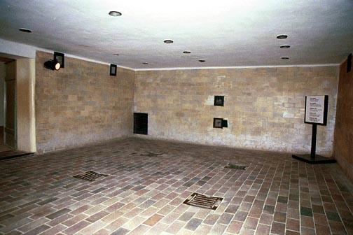 Same view of Dachau gas chamber, May 2001