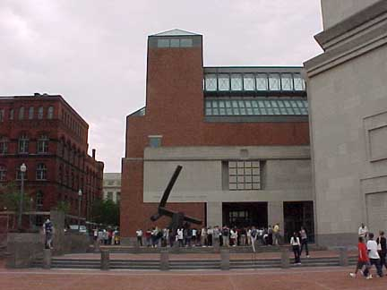 Eisenhower Plaza in front of the United States Holocaust Memorial Museum