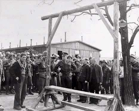 Survivors told Eisenhower prisoners were hung with piano wire on this gallows