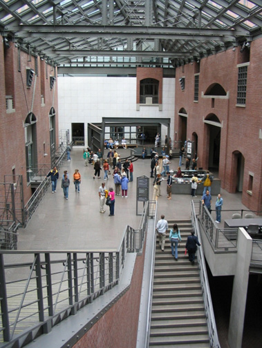 The Hall of Witness inside the USHMM
