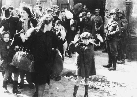 Jews who were forced out of a Hotel in the Warsaw Ghetto