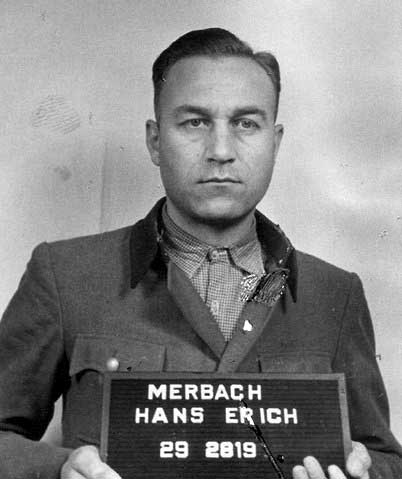 Hans Merbach, the SS man in charge of the death train