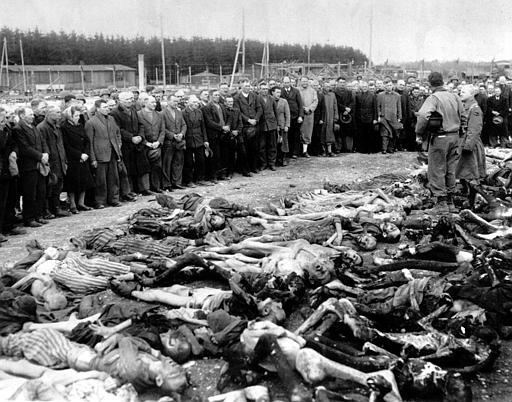 Citizens of the nearby town of Ohrdruf were forced to look at the bodies