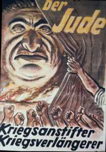 Propagana Poster shows how the Nazis viewed the Jews