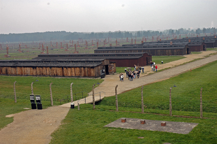 Quarantine barracks at Auschwitz II (Birkenau)