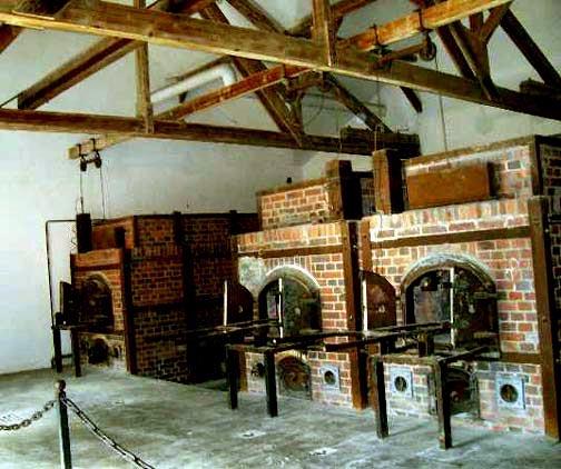The ovens in the new crematorium at Dachau