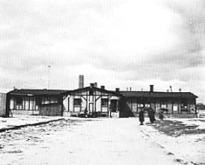 """Former """"disinfection hut"""" at Dachau was turned into a restaurant for ethnic German refugees"""