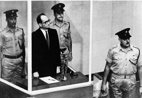 Eichmann at his trial in Israel