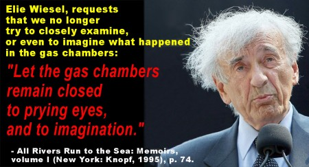 Quote from Elie Wiesel about the Auschwitz gas chambers