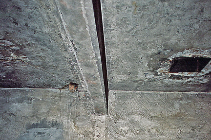 The Four Reconstructed Holes In The Ceiling Of The