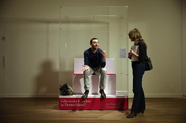 """Jew in a Box"" in the Jewish Museum in Berlin"