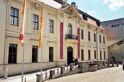 Entrance to the Jewish Museum in Berlin is through this Baroque building next door