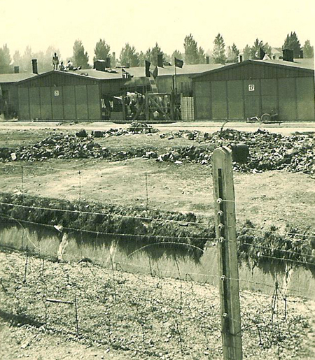 The moat and barbed wire fence that 42nd Division soldiers saw