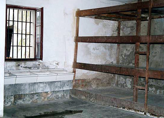 One of the group prison cells in the Fourth Courtyard of the Small Fortress
