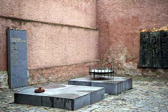 Memorial inside one of the buildings in Small Fortress