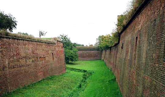 Dry moat at Theresienstadt